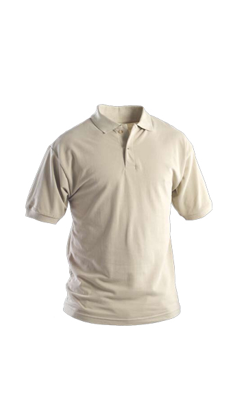 biege polo short sleeves