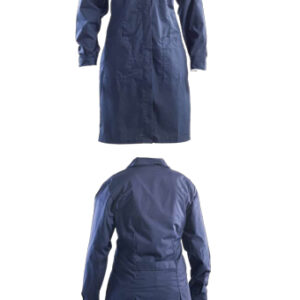 blue long coat for women