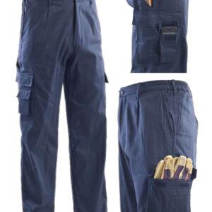 summer multi pocket pant blue