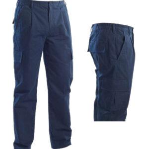 blue multi pocket pant
