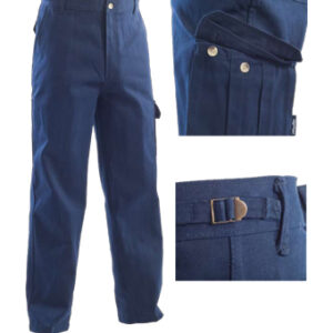 multi pocket blue trousers
