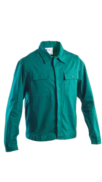 green jacket work wear
