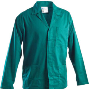 green coat work wear
