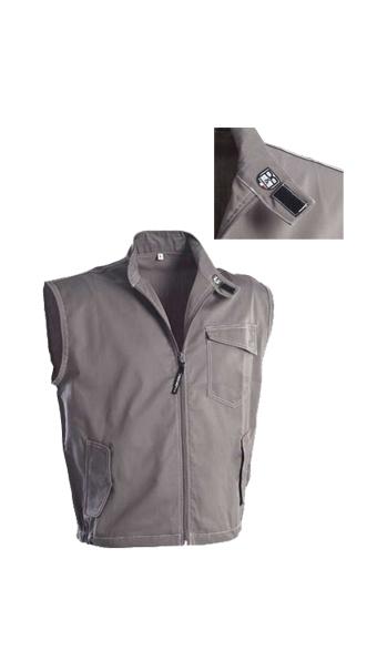 bg line waistcoat grey