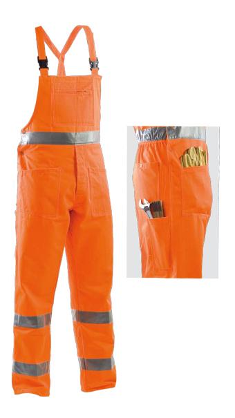 orange bib pant protective