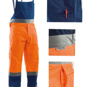 orange blue summer bib pant