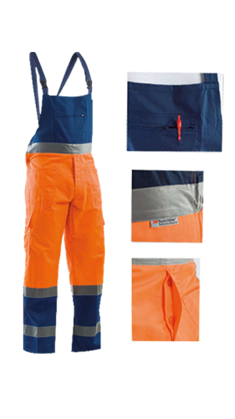 orange blue summer bib pant