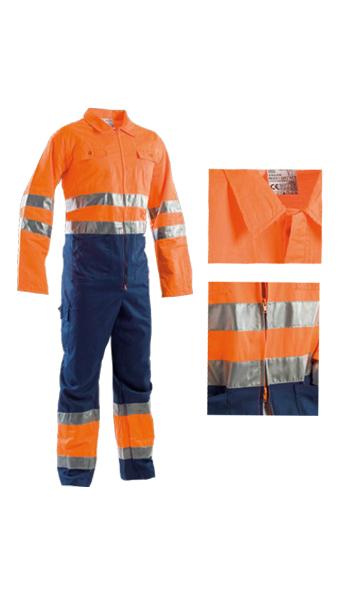 orange blue coveralls