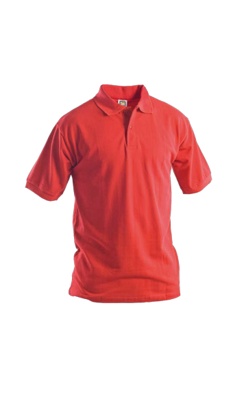 red polo short sleeves