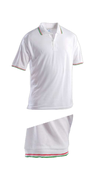 polo action short sleeve white