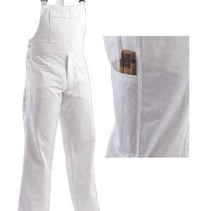 clothes for painters bib pant white