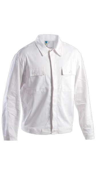 white jacket work wear