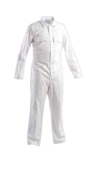 white coveralls work wear