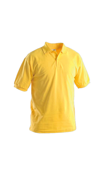 yellow polo short sleeves